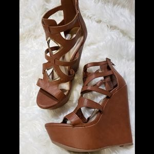 "Shoes - 6"" cutout wedge heels"